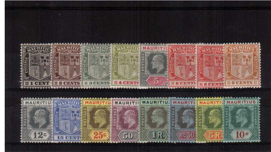 A fine lightly mounted mint set of sixteen that has the bonus of including the 6c shade. The 5R is unmounted. 