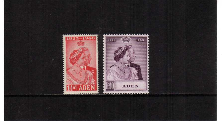The 1948 Royal Silver Wedding set of two superb unmounted mint.<br/><b>SEARCH CODE: 1948RSW</b><br><b>XYX</b>