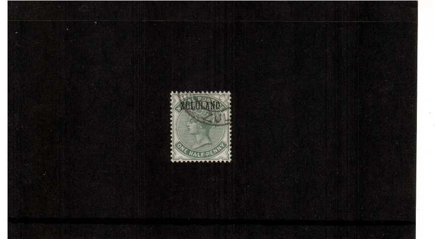 ½d Dull Green overprinted ''ZULULAND'' - without stop superb fine used.