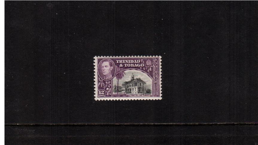 12c Black and Purple (note, not the cheaper shade) superb unmounted mint.<br/><b>ZKE</b>