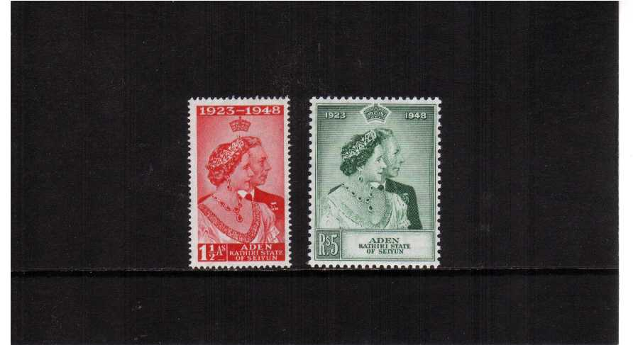 the 1948 Royal Silver Wedding set of two mounted mint.<br/><b>SEARCH CODE: 1948RSW</b>