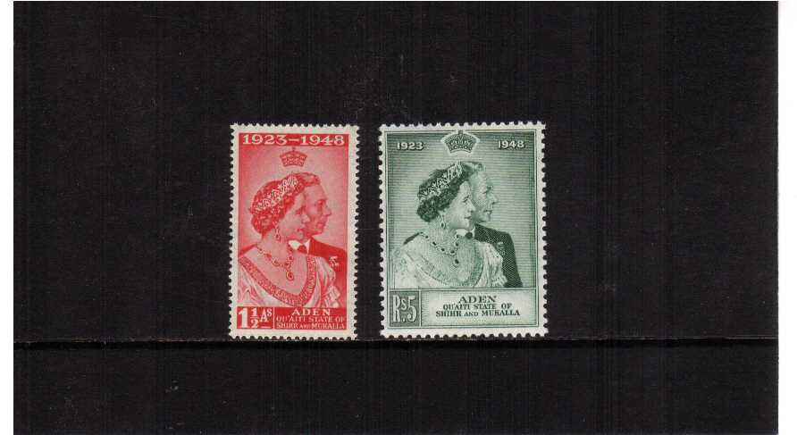 The 1948 Royal Silver Wedding set of two superb unmounted mint. <br/><b>SEARCH CODE: 1948RSW</b>