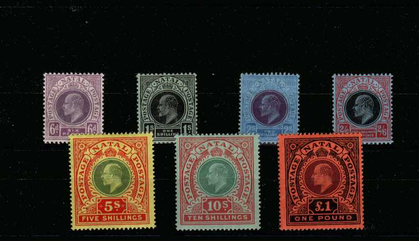 A fine bright and fresh set of seven fine lightly mounted mint. Rare set!