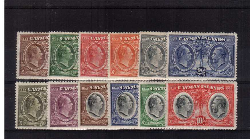 Centenary set of twelve fine lightly mounted mint. Pretty!