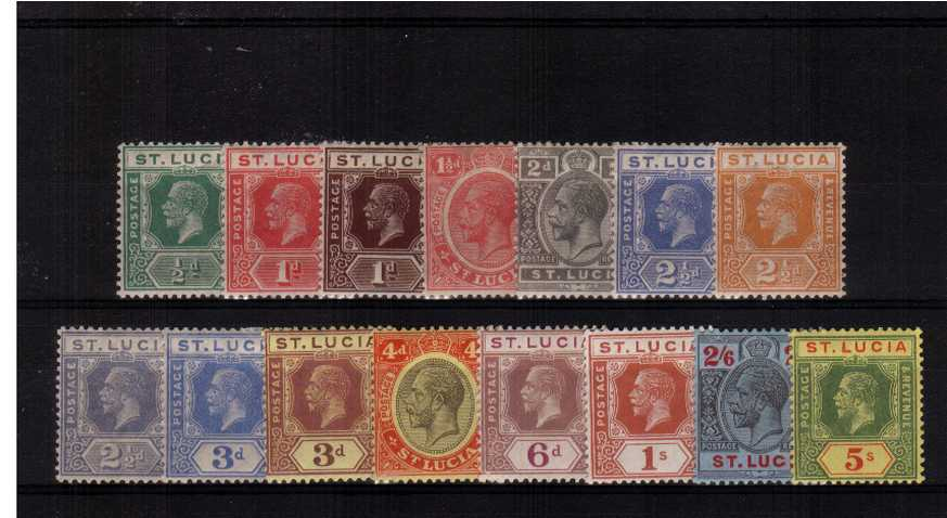 A fine lightly mounted mint set of fifteen.