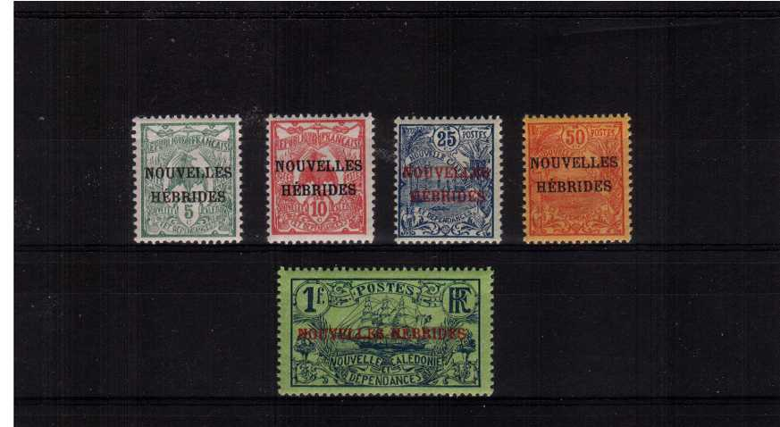 A superb unmounted mint set of five. Scarce set unmounted!