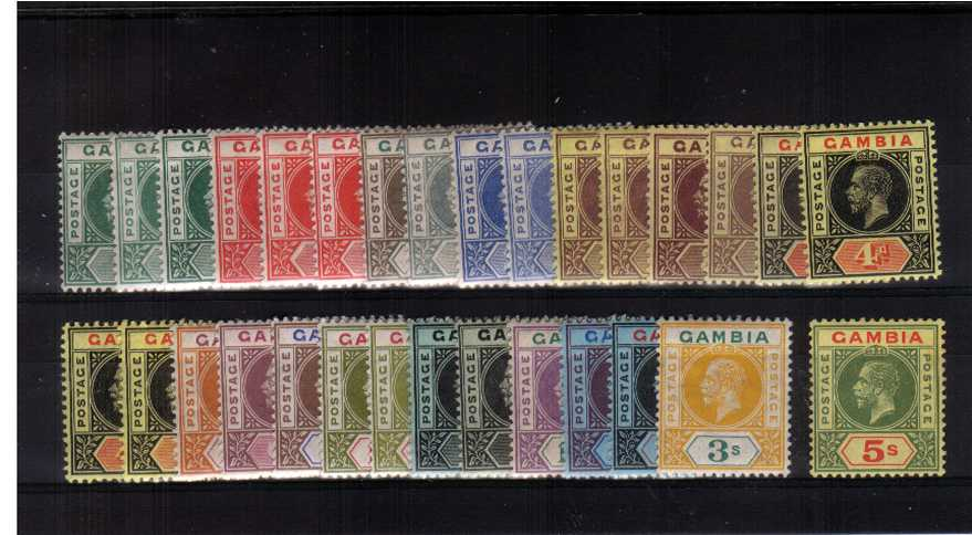 The Multiple Crown Watermark set of seventeen plus the additional thirteen listed by SG shades all fine lightly mounted mint. A rare group to find, and difficult to build.<br/>SG Cat �0 as singles 