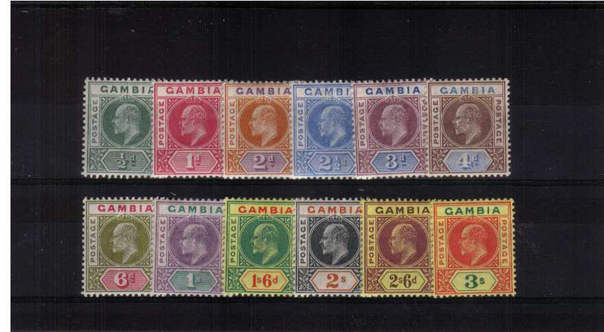 The Crown CA watermark set of twelve fine lightly mounted mint. A fresh set!