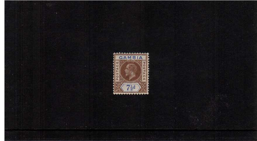 The 7絛 Brown and Blue Watermark Multiple Script CA superb unmounted mint <br/>showing the variety WATERMARK REVERSED 