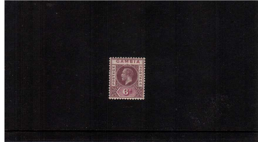 The 6dDull and Bright Purple Watermark Multiple Script CA superb unmounted mint<br/> 