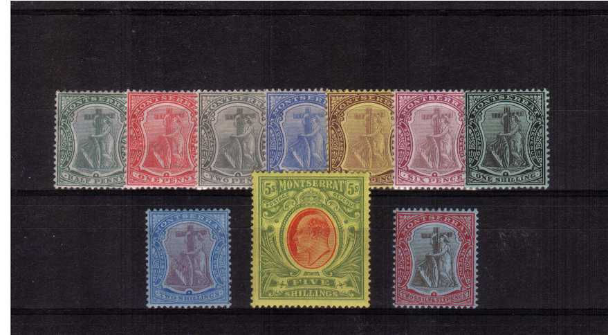 A fine and fresh very lightly mounted mint set of ten.