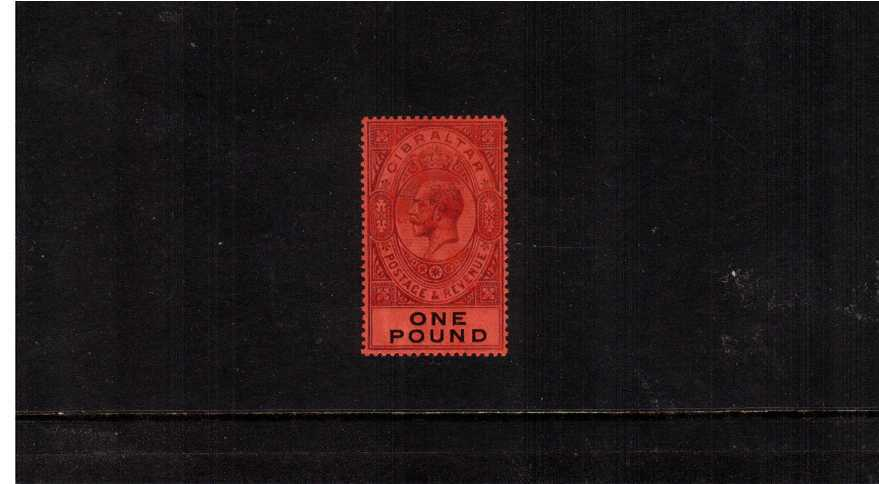 �Dull Purple and Black on Red watermark Multiple Crown CA fine lightly mounted mint. 