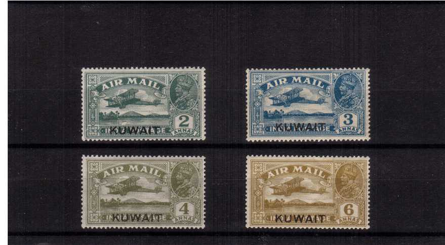 The ''AIR'' set of four lightly mounted mint.