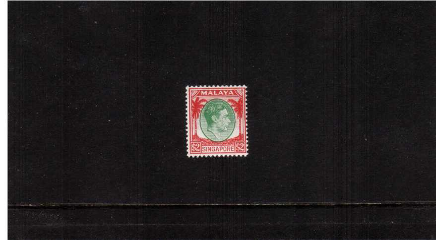 $2Green and Scarlet - Perforation 14<br/>A superb unmounted mint single
