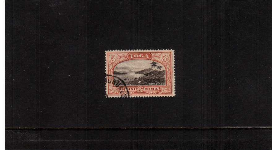 5/- Black and Brown-Red superb fine used.