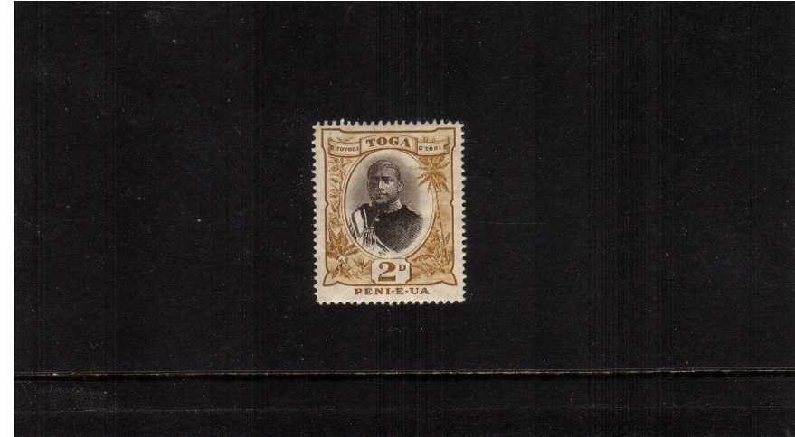 2d Sepia and Bistre - Type I - showing the ''Small ''2' variety<br/>A superb unmounted mint single.' 