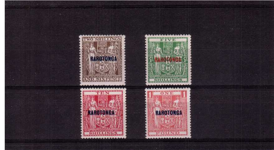 The ''RAROTONGA'' set of four to the �stamp good mounted mint. 