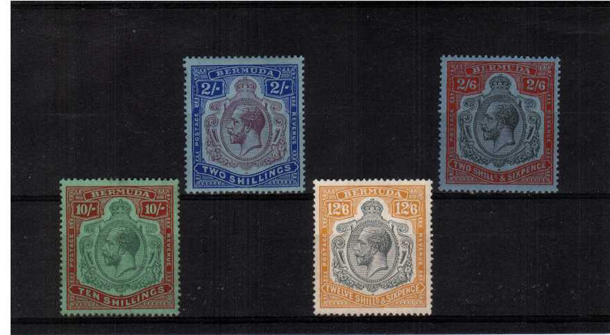 The Multiple Script watermark set of four lightly mounted mint - the 2/6d being unmounted mint.