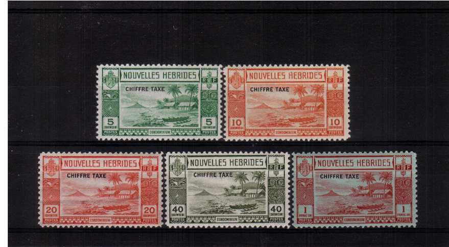 POSTAGE DUE set of five superb unmounted mint