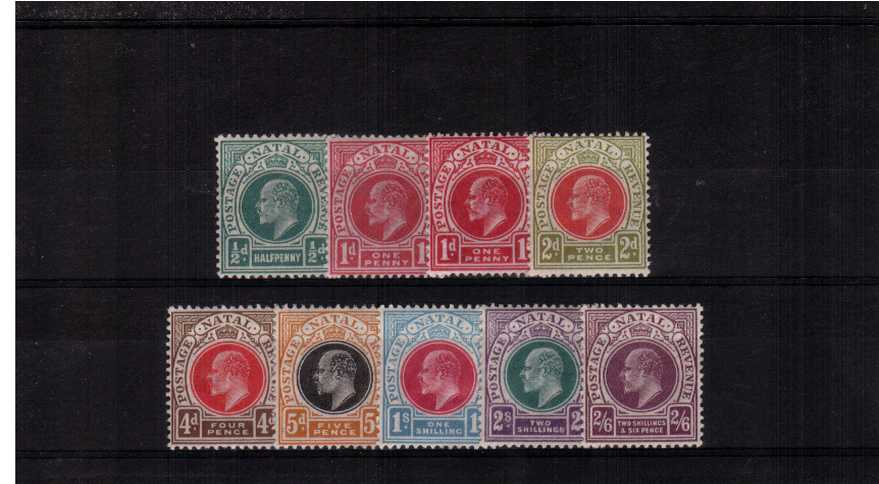 The Multiple Crown CA set of nine very fine lightly mounted mint. Fresh set!
