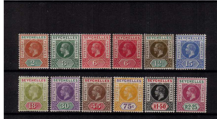The Multiple Crown watermark set of eleven with the bonus of the<br/>6c Aniline-Carmine all very lightly mounted mint.