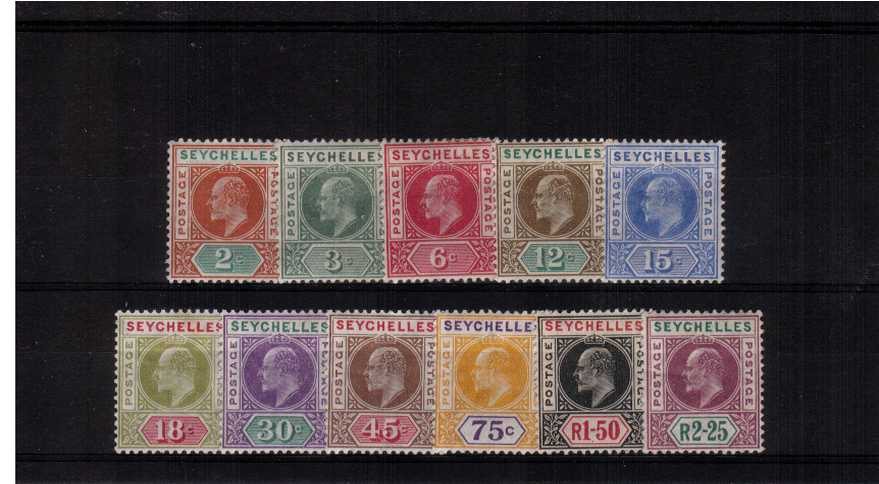 The Multiple Crown watermark set of eleven lightly mounted mint.