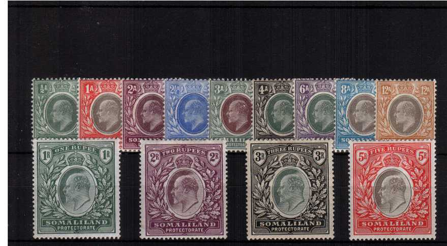 The Edward 7th complete set of thirteen in exception very lightly mounted mint condition.