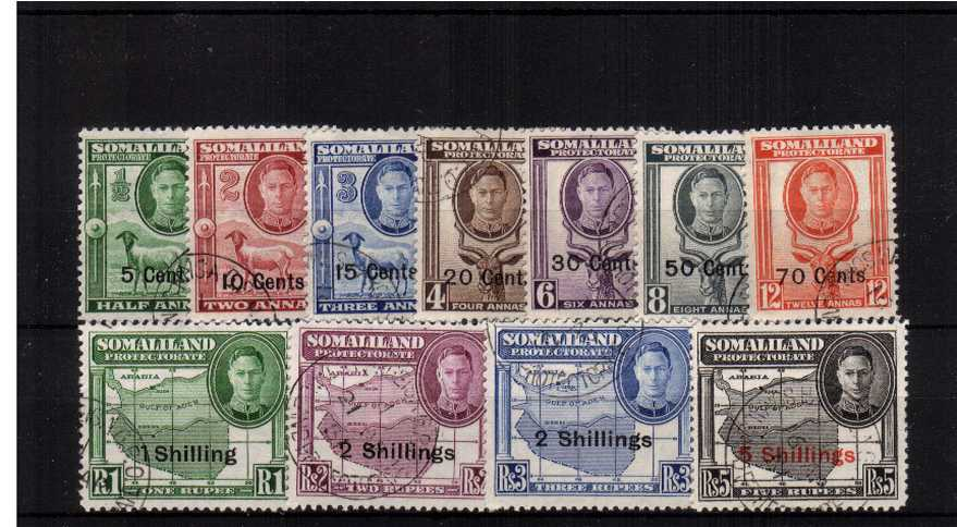A superb fine used set of eleven.