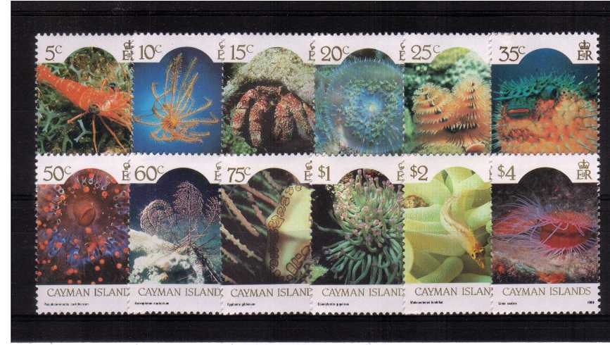The Marine Life set of twelve very lightly mounted mint.