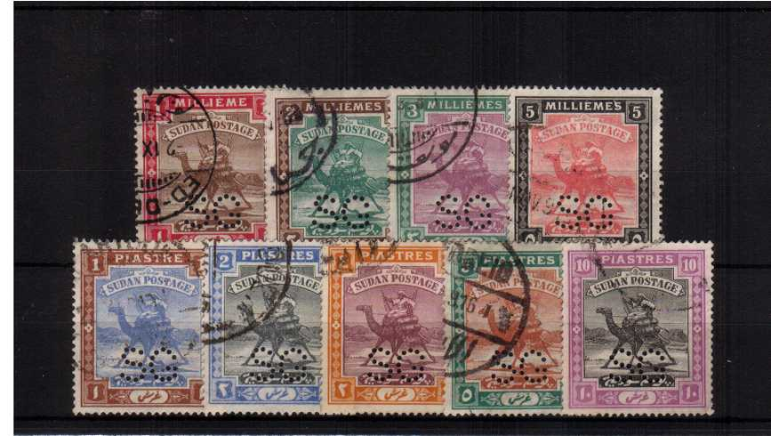 The perfined ''OFFICIALS'' set of nine superb fine used.
