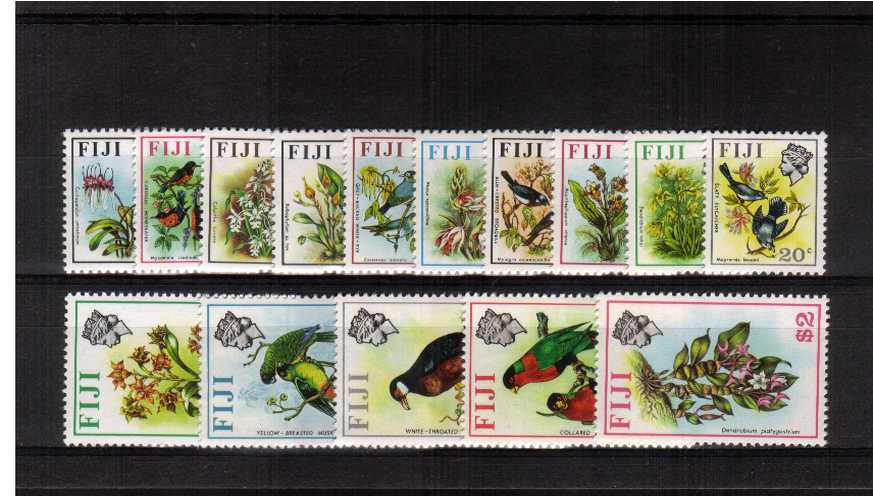 The ''Birds and Flowers'' set of fifteen superb unmounted mint.