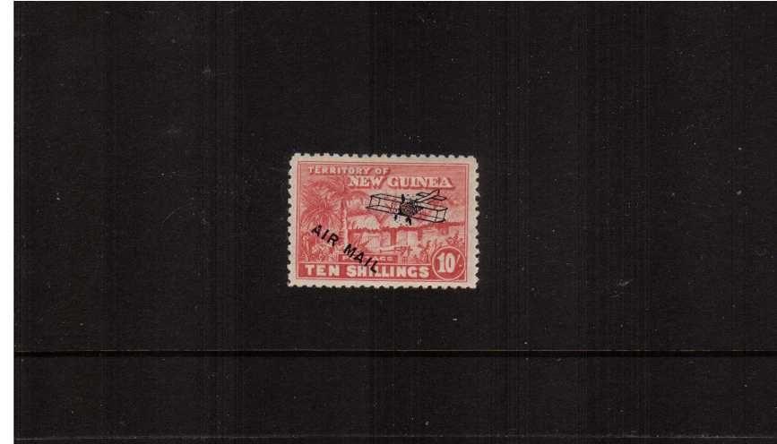10/- Bright Pink with ''AIR MAIL'' overprint<br/>A fine very lightly mounted mint single. 