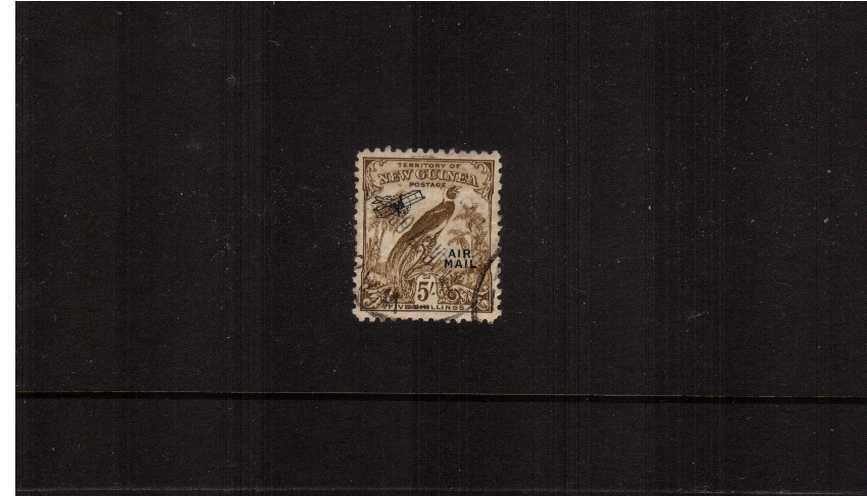 5/- Olive-Brown overprinted ''AIR MAIL''<br/>A fine use single