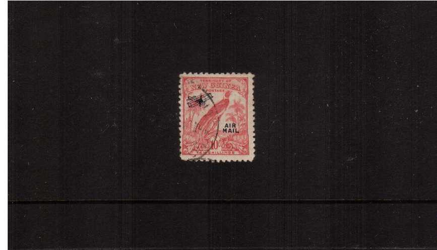 10/- Pink overprinted ''AIR MAIL''<br/>A superb fine used single<br><b>ZKS</b>
