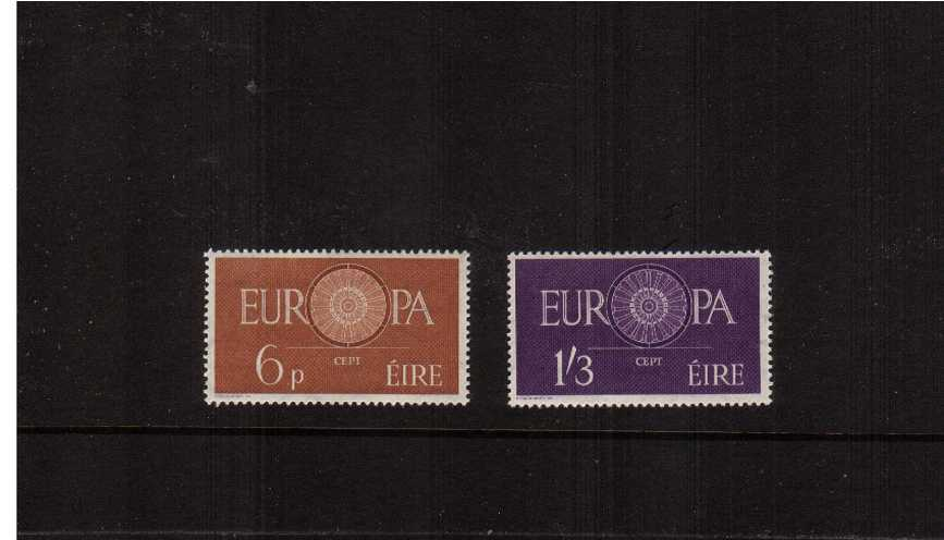 Europa set of two superb unmounted mint.