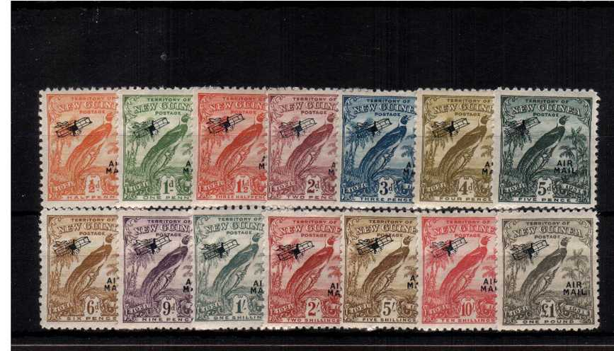 Airs overprint set of fourteen lightly mounted mint - 1st Hinge.