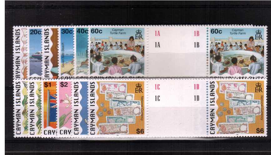 National Identity definitive set of twelve in superb unmounted mint gutter pairs.