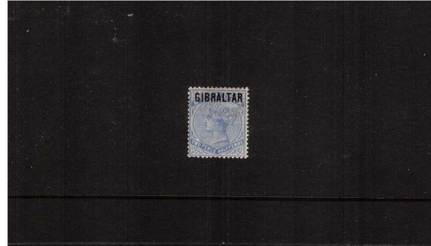 The 2絛 Ultramarine of ''BERMUDA'' overprinted ''GIBRALTAR''.<br/>A lovely lightly mounted mint single.