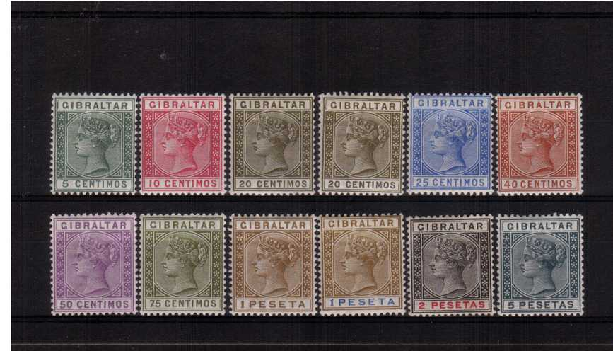 The Spanish Currency set of twelve -  almost all are superb unmounted mint with only two being mounted. (SG 31 and 32)