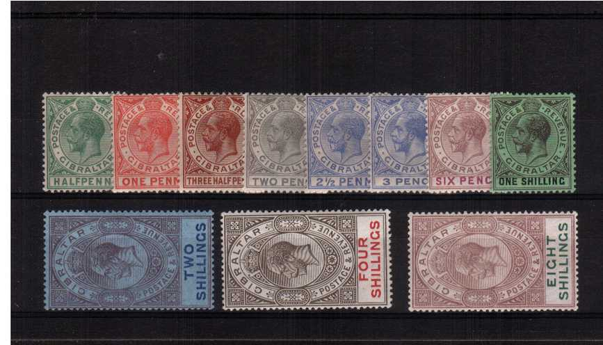The Watermark Multiple Script ''CA'' set of eleven lightly mounted mint with some being unmounted mint.