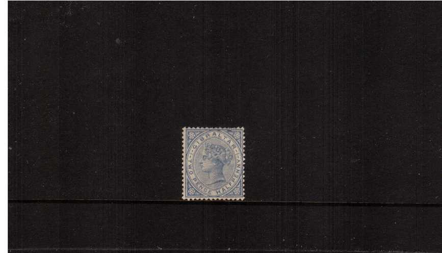 2½d Blue (pale). A lightly mounted mint stamp with a few short perfs at top. SG Cat £85