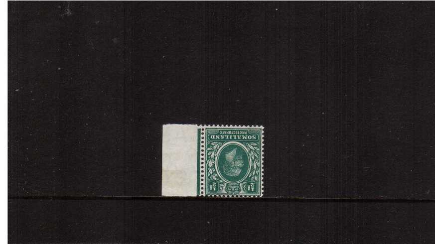 絘 Green - A very lightly mounted mint marginal single<br/>clearly showing an INVERTED WATERMARK. 
