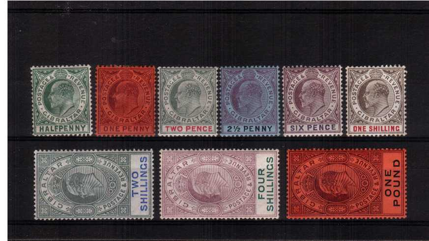 A fresh good mounted mint complete set of nine. A scarce seldom seen complete set.