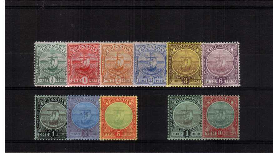 A fine and fresh lightly mounted mint set of eleven.