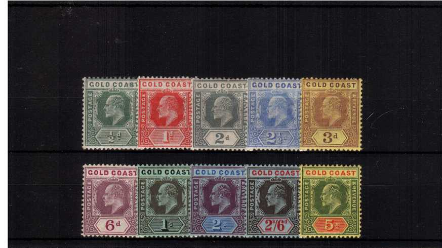 A good lightly mounted mint set of ten.