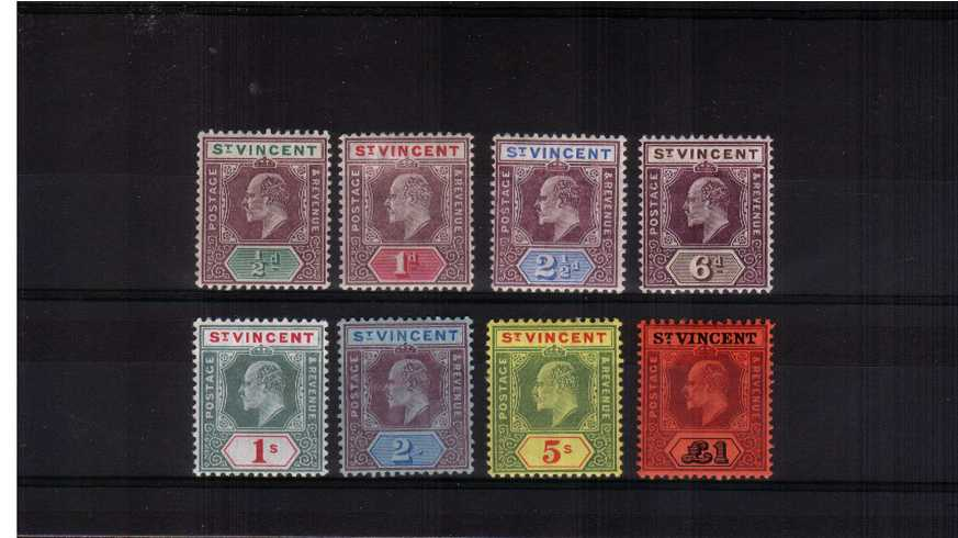 A fine lightly mounted mint complete set of eight.
