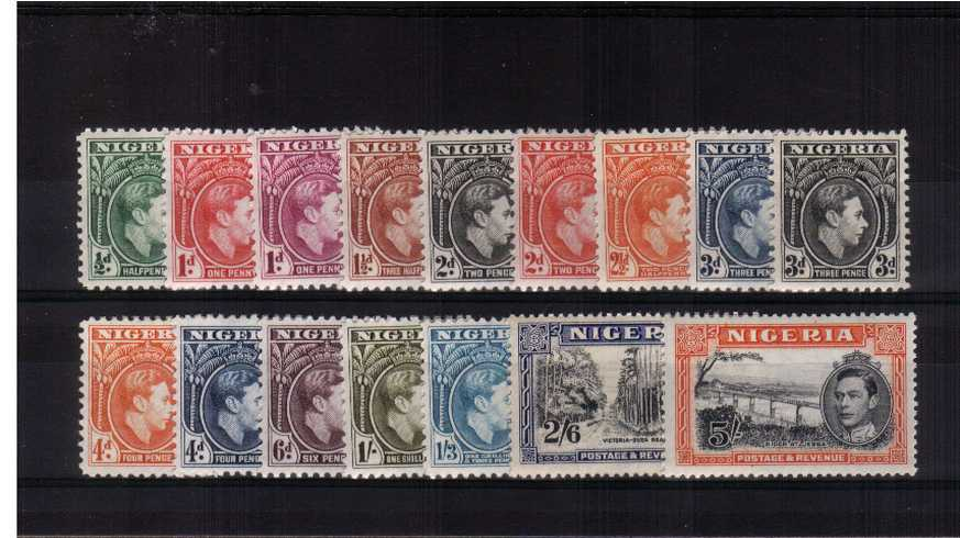 A fine lightly mounted mint set of sixteen with some values being unmounted..