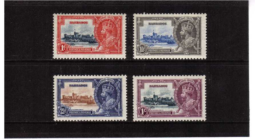 Silver Jubilee set of four superb unmounted mint.<br/><b>SEARCH CODE: 1935JUBILEE</b><br><b>XLX</b>