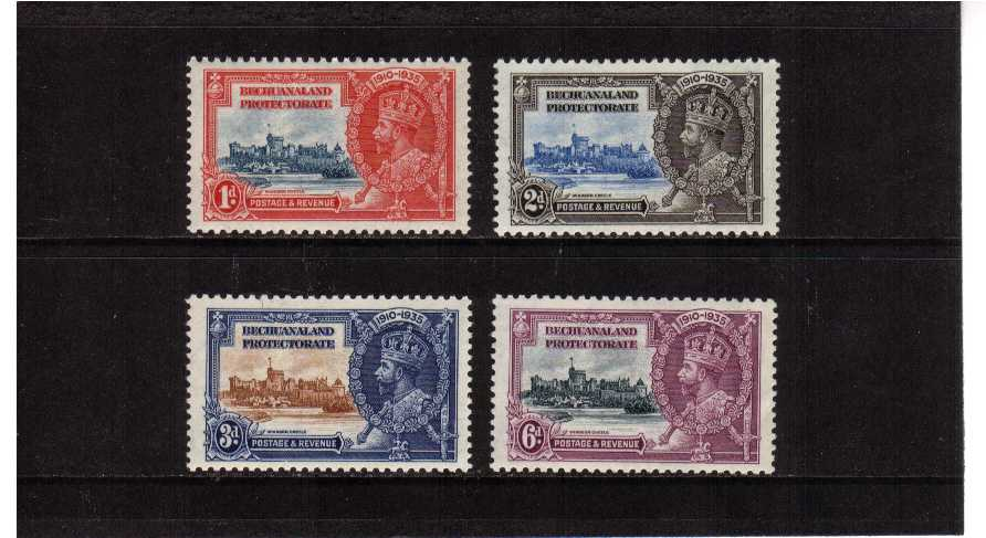 Silver Jubilee set of four superb unmounted mint.<br/><b>SEARCH CODE: 1935JUBILEE</b><br/><b>ZFZ</b>
