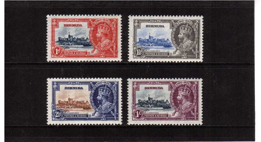 Silver Jubilee set of four superb unmounted mint.<br/><b>SEARCH CODE: 1935JUBILEE</b>